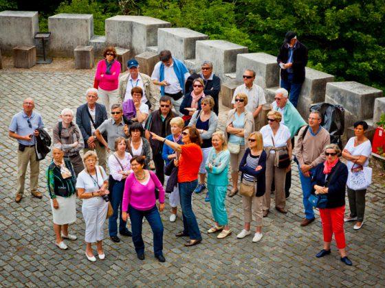 Grupo de turistas.