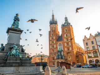 Centro da cidade de Cracóvia
