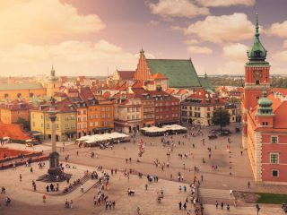 Varsóvia vista de cima